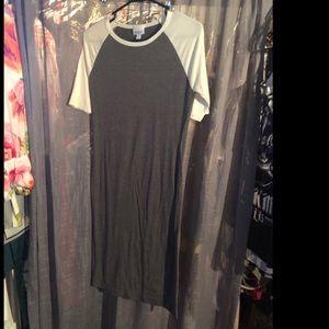 Soft baseball style tee shirt dress